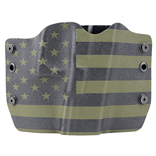 Outlaw Holsters OD Green & Black USA Flag OWB Holster (Right-Hand, for Glock 20,21,29)