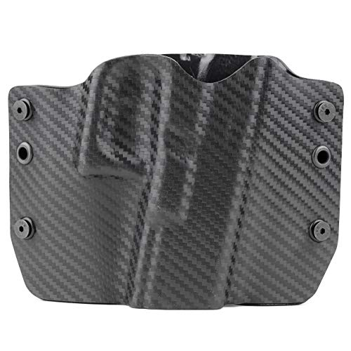 Outlaw Holsters Black Carbon Fiber OWB Holster (Right-Hand, for Glock 20,21,29)