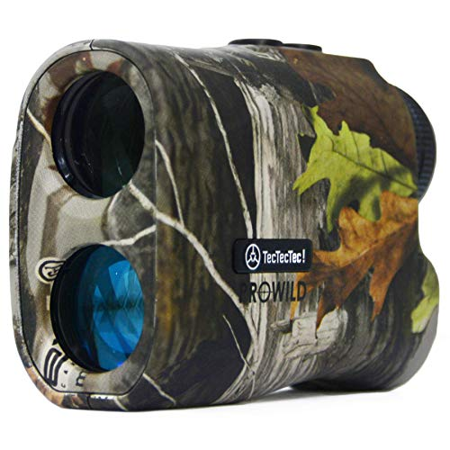 TecTecTec ProWild Hunting Rangefinder 6X Magnification Laser Range Finder for Hunting with Range Scan, Speed Mode, CR2 Battery, and High-Precision Fast Measurements - Camo