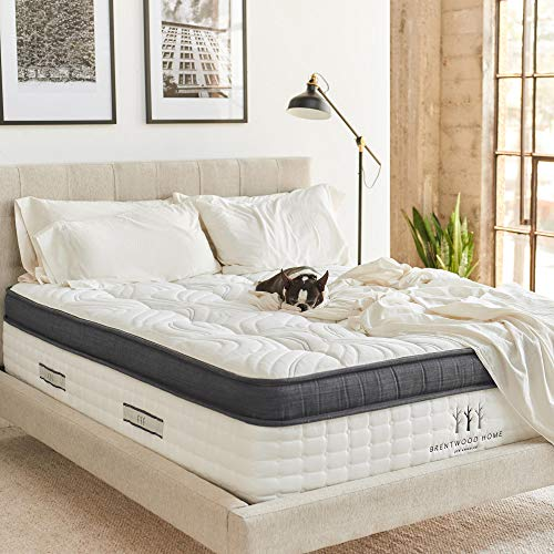 Brentwood Home Oceano Hybrid Innerspring, Cooling Gel Memory Foam, Non-Toxic, Made in California Mattress, Queen