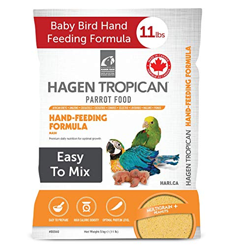 Tropican Baby Bird Food, Parrot Food, Complete Nutrition Diet, Hand-Feeding Formula, 11 lb Bag