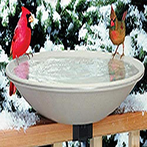 Allied Precision Industries (650) Heated Bird Bath with Mounting Bracket, Light Stone Color, 20' Diameter