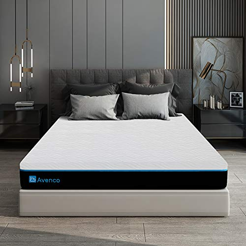 King Size Mattress, Avenco 10 Inch King Memory Foam Mattress in a Box, King Mattress with CertiPUR-US Foam for Supportive, Pressure Relief & Cooler Sleeping, 10 Years Support