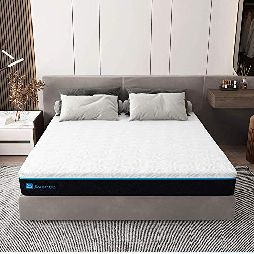Avenco 12 Inch Memory Foam Mattress, Cal King Mattress with CertiPUR-US Foam for Supportive, Pressure Relief & Cooler Sleeping, 10 Years Support