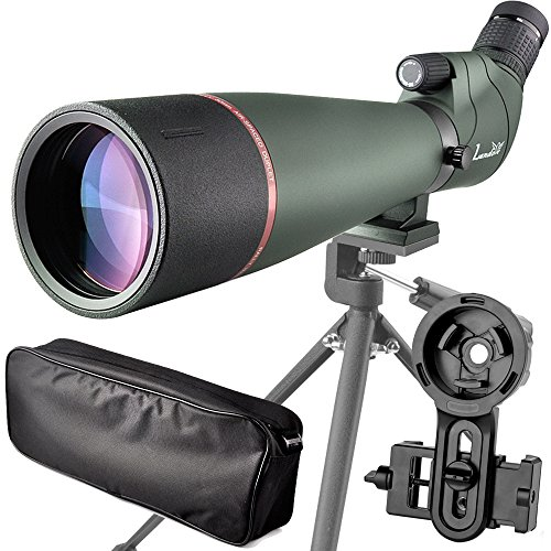 Landove Spotting Scopes - 20-60X80 Spotting Scope BAK4 Prism - Waterproof Field Scope for Birdwatching Target Shooting Archery Hunting - with Tripod Carrying Bag & Digiscoping Adapter