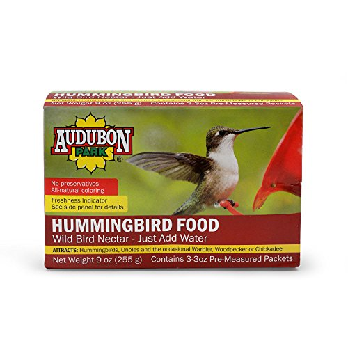 Audubon Park 1661 Hummingbird Food Nectar Powder, Contains (3) 3-Ounce Packets