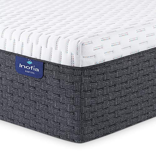 Twin Mattress, Inofia 12 Inch High Resilience Foam Single Mattress in a Box, More Breathable & Supportive Than Memory Foam, Pressure Relief & Cooler Sleeping, Medium Firm Feel, 100-Night Trial