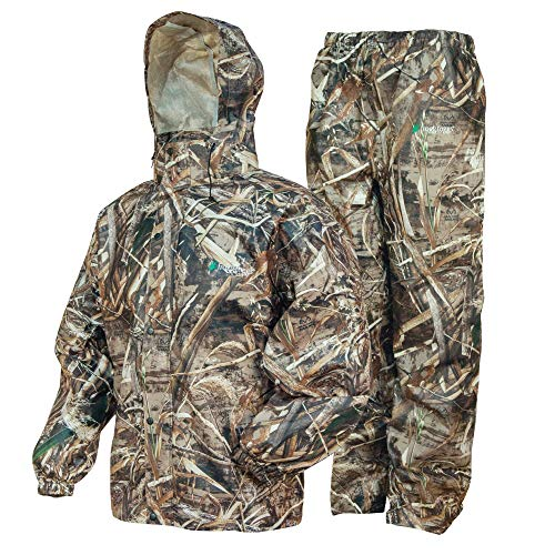 FROGG TOGGS Men's Standard Classic All-Sport Waterproof Breathable Rain Suit, Realtree Max-5, XX-Large