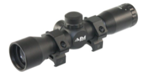 AIM Sports 4X32 Compact Mil-Dot Scope with Rings